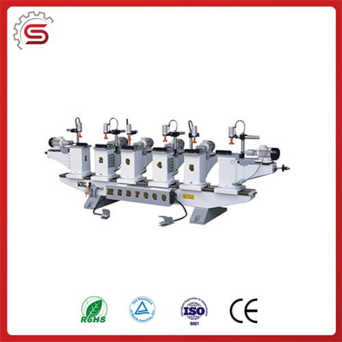 High efficient driller machine MZB7363 Horizontal multi-axle woodworking driller with six head